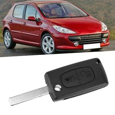 Mando Llavero de 3 botones cubierta de la caja para Peugeot 207 307 407 308 607