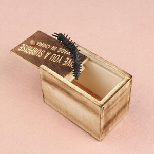 Details about Whole Person Small Wooden Box Toy Creative Scary Centipede  Terrible bug Gift