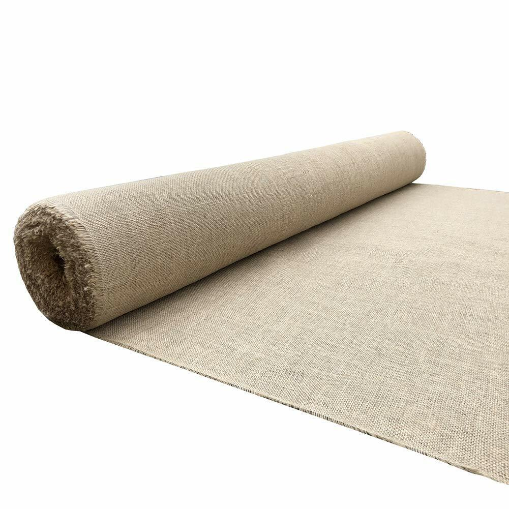 5.3x50ft Natural Burlap Roll, Tree Plant Cover,Frost Protection Erosion Control