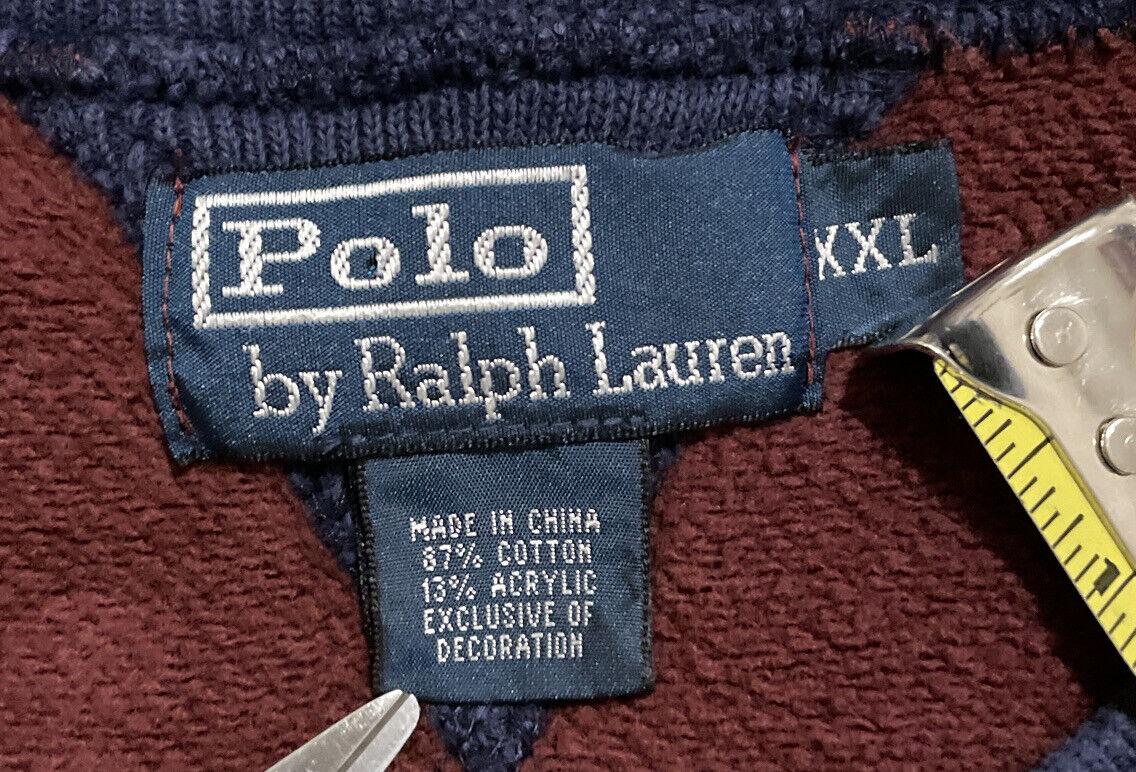 Vintage Polo Ralph Lauren Academy Fleece Sweatshi… - image 4