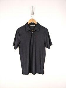 Travis-Mathew-Polo-Shirt-Men-Small-Pima-Cotton-Blend-Gray-Red-Golf-Lightweight