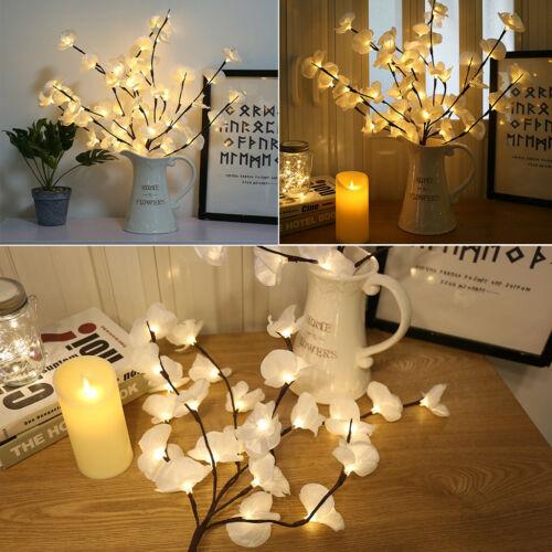 Phalaenopsis Tree Branch Light Floral Lights Home Christmas Party Garden Decor