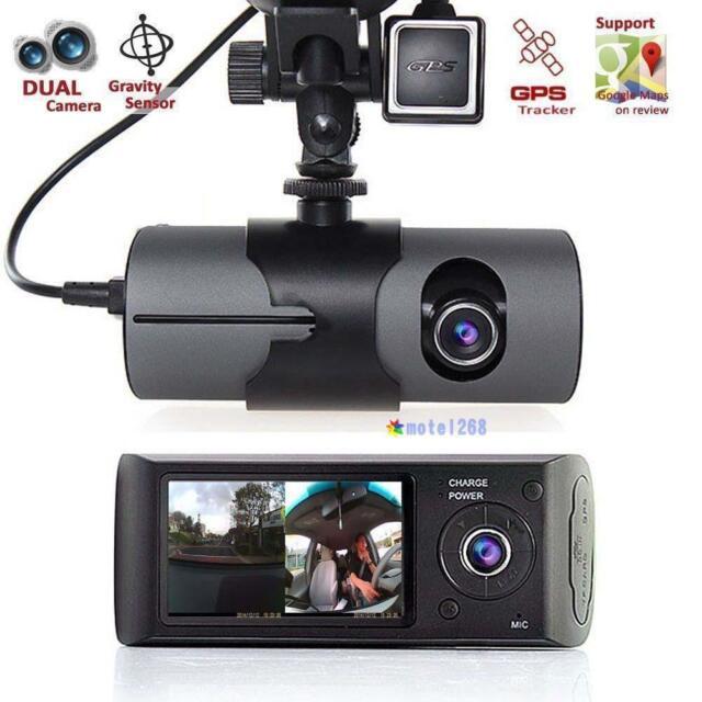 """2.7"""" Vehicle Car DVR Camera Video Recorder Dash Cam G-Sensor GPS Dual Len Cam"""