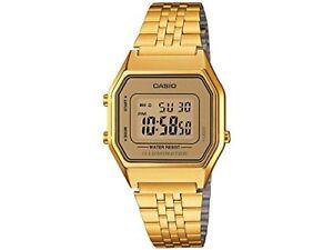 Brand-New-Vintage-Gold-Women-039-s-Stainless-Steel-Casio-Watch-LA680WGA-9VT