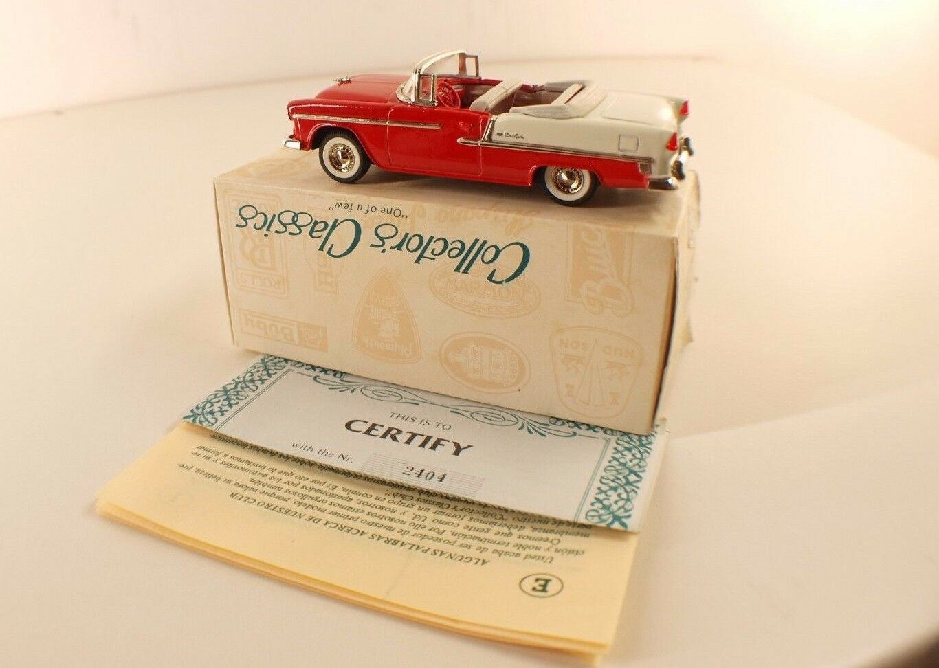 Collector's Classic plataine n° C1-5 Chevrolet 1955 neuf en boite 1 43 n° 2404