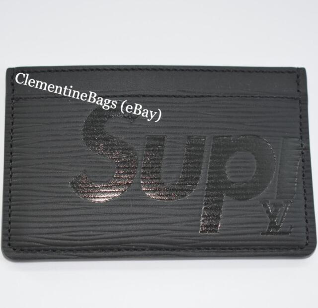 Louis Vuitton x Supreme Cardholder Card holder Wallet Black Epi leather NEW