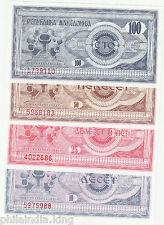 1992 MACEDONIA 10.25.50.100 denars (4 Pcs) Set ~~ UNC / Lowest Price