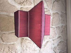 -schirm Lampenschirm D'Wandleuchte Rot Art Deco Seide Gefüttert De: Kartonagen