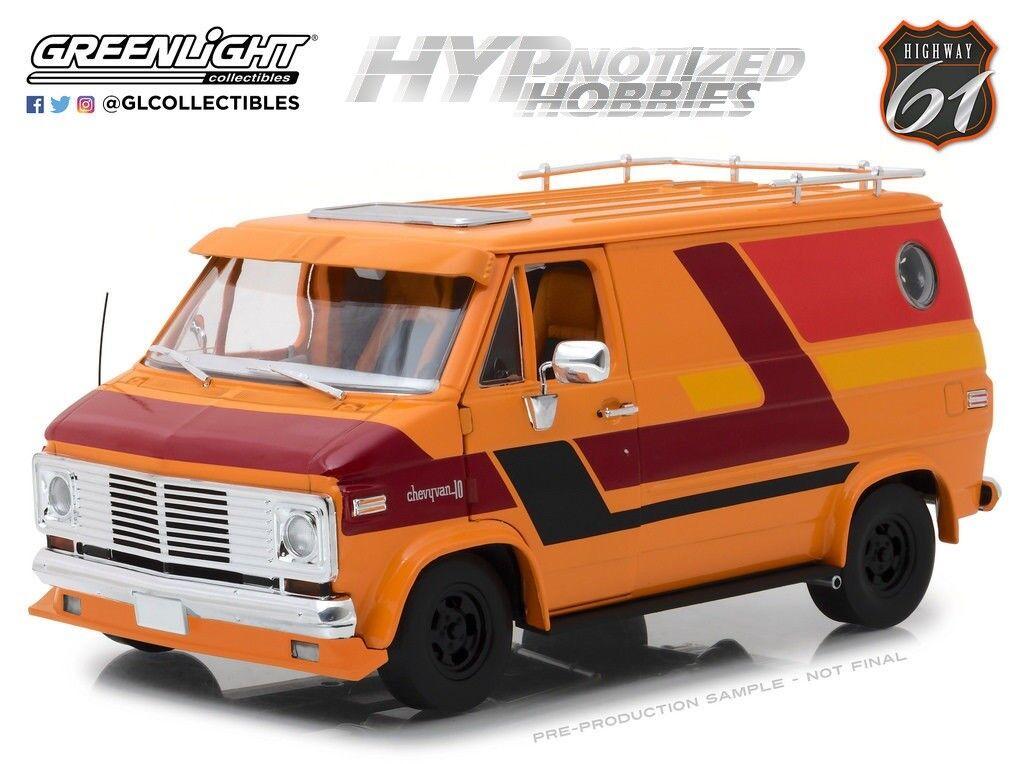 è scontato Autostrada 61 61 61 1 18 1976 Chevrolet G-Serie Furgoncino modellolino Arancione 18012  vendita scontata online di factory outlet