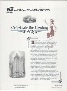 SSS-USPS-1998-Commemorative-Panel-538A-Celebrate-the-Century-1920s-Sc-3184