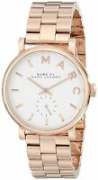 Marc by Marc Jacobs Womens Baker Rose-Tone Watch with Link Bracelet