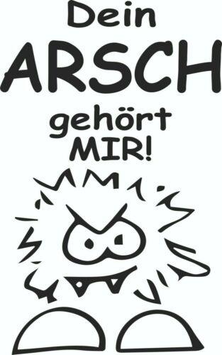 """schwarz /""""Dein Arsch gehört mir/"""" lustiger Bad//WC Sticker 17x28 cm"""