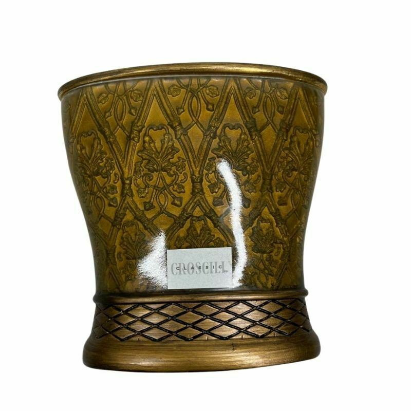 Toothbrush Holder CROSCILL Home Brown Gold Bathroom Hand Painted