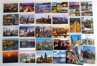 Temperamentvoll 32 X Prag Praha Praque Postkarten Lot Frankiert Mit Briefmarken Česká Republika SorgfäLtige Berechnung Und Strikte Budgetierung