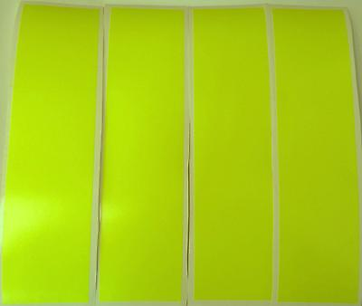 """Selfless 4 X Yellow Fluorescent Strips Of Vinyl/tape 8"""" X 2"""" Vehicles/arts And Crafts Full Range Of Specifications And Sizes Famous For High Quality Raw Materials And Great Variety Of Designs And Colors"""