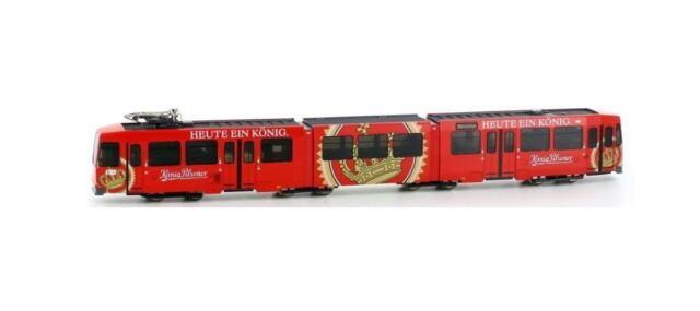 N Gauge - Hobbytrain Tram Düwag M6 König Pilsener Köpi - 14905 Neu