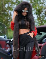 NEW 2017 RED SWEATER FOX FUR HOOD CLASS- SABLE MINK JACKET VEST COAT CHINCHILLA