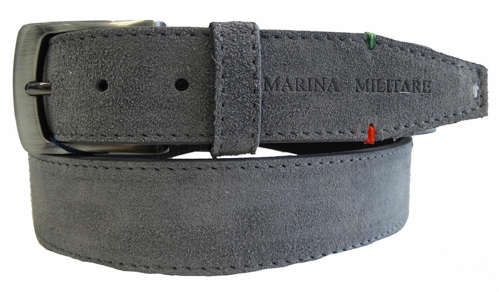 Gürtel 100% Leder Made IN Italy marina militare Herr Herren Grau My