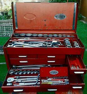 Britool-Combination-Universal-Service-Tool-Socket-Spanner-Set-1960-039-s-Rare
