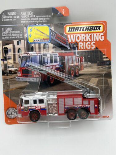 MATCHBOX PIERCE QUANTUM AERIAL LADDER FIRE TRUCK WORKING RIGS FREE SHIPPING