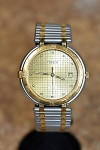 *Tissot T-12 Two Toned Quartz Men's Wristwatch Pre Owned Free Shipping BIN