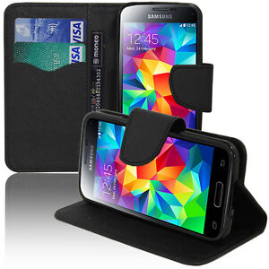on sale 4ca07 1a313 Details about Case Cover Wallet Silicone Effect Fabric Samsung Galaxy S5  Mini G800f