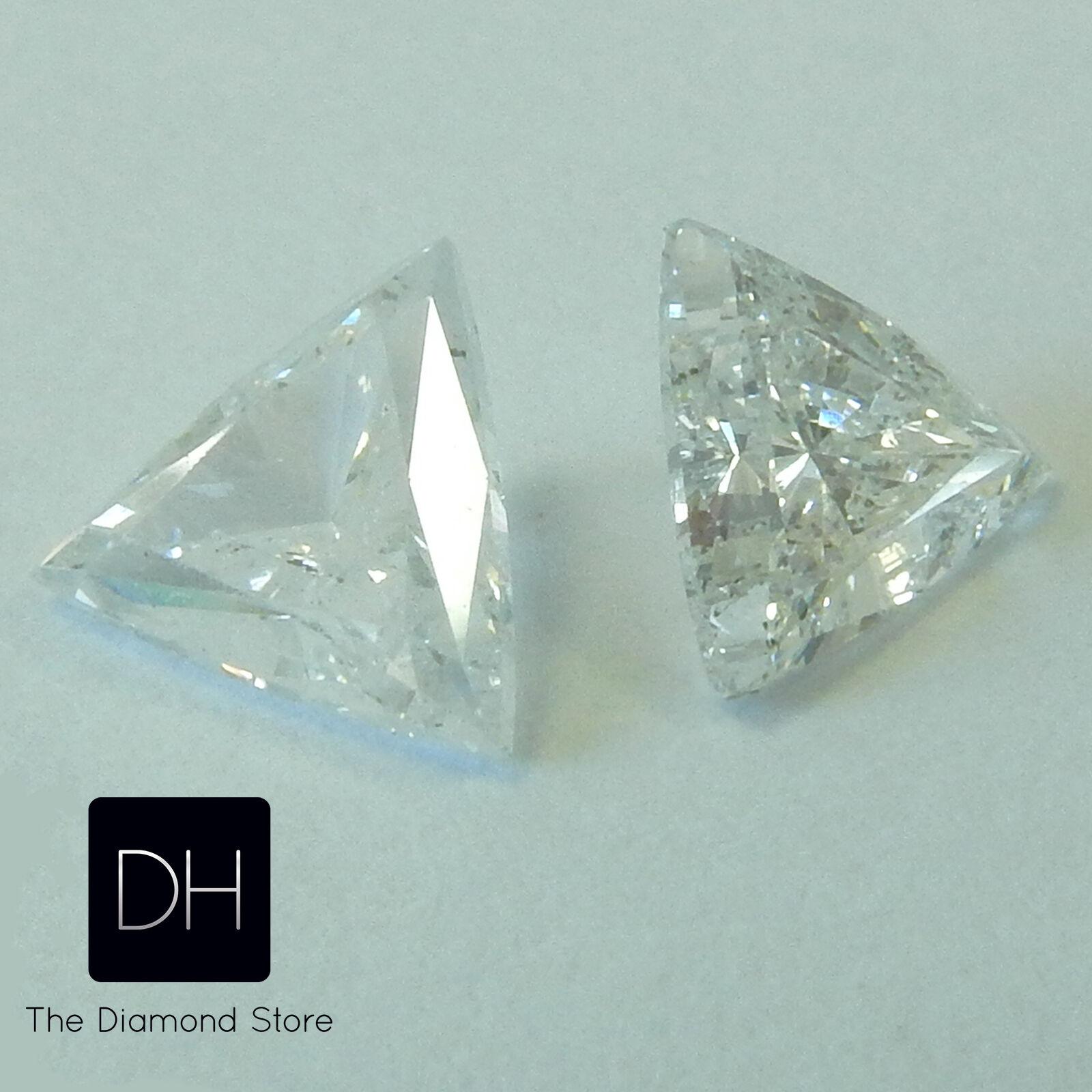 0 47 Ct Pair Loose Diamonds Triangle Shape I Si1 Trillion
