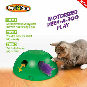 Pop-N-039-Play-Interactive-Motion-Cat-Toy-Automatic-Mouse-Tease-Electronic-Pet-Toys