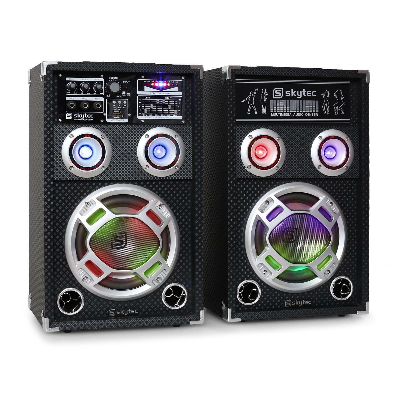 [OCCASION] Skytec KA-08 Set enceintes actives karaoke PA PA PA  100% garantía genuina de contador
