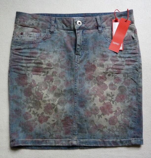 Esprit Sommer Jeans midi Rock W28 stretch denim Minirock Gr.38