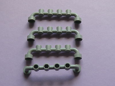 4 old light gray fence Lego 4 barrieres gris clairs set 5561 6338 1687 6442