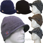 Dickies Beanie Hat Men Billed Knit Cap w/cuff Double Layered Visor Winter Hats..