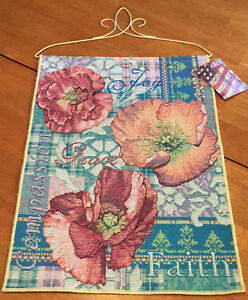 Mary Engelbreit Bless Our Home Bright Floral Tapestry Bannerette Wall Hanging