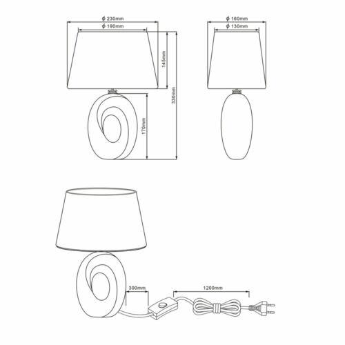 LED Design Nacht Schreib Tisch Leuchte schwarz gold Schlaf Zimmer Keramik Lampe