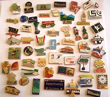 PINS LOT DE 50 PIN'S VINTAGE THEMES DIVERS MISCELLANEOUS BADGES wxc cag g/27