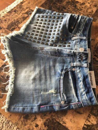 in chiaro denim argento 4 in New Vs Pantaloncini tagliate taglia ❤️ Jean Borchiette Cheeky blu w6WtgYx