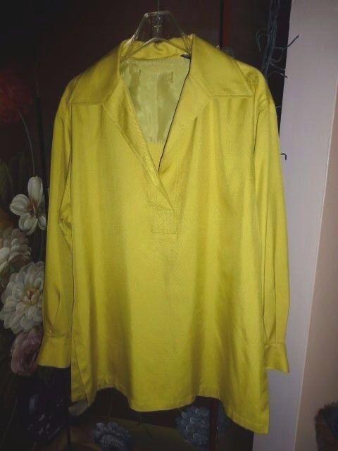 f46827cdbe93ff Vintage Ellen Tracy Lime Green Silk Doupioni Big Shirt   Tunic