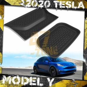 For 2020 - 2021 Tesla Model Y Carbon Fiber Kagu Black Lower Upper Cargo Liner