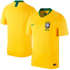 Nike Brazil - Brasil WC World Cup 2018 Home Soccer Jersey Yellow ... 4abd6a79a