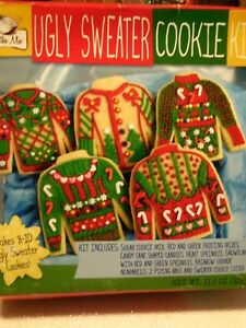 Ugly Christmas Sweater Cookie Kit New Nib Fab Party Ebay