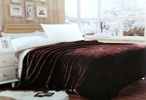 Carmen Reversible Super Soft Solid Mink Blanket Queen Size Available in 7 Colors