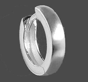 925 ECHT SILBER *** Herren Single-Creole Ohrring matt 16 mm