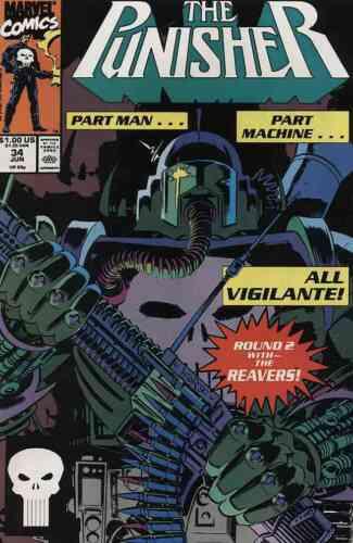PUNISHER #34 NEAR MINT 1990 MARVEL COMICS