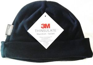 TAS - POLAR FLEECE BLACK BEANIE WITH 3M THINSULATE INSULATION LINING