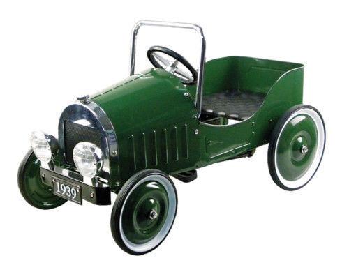 Automobile a pedali verde 110 cm ruote gommate 1929  Replica