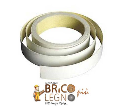 Bordo Melaminico Bianco varie finiture Precollato da 22 mm 50 ml