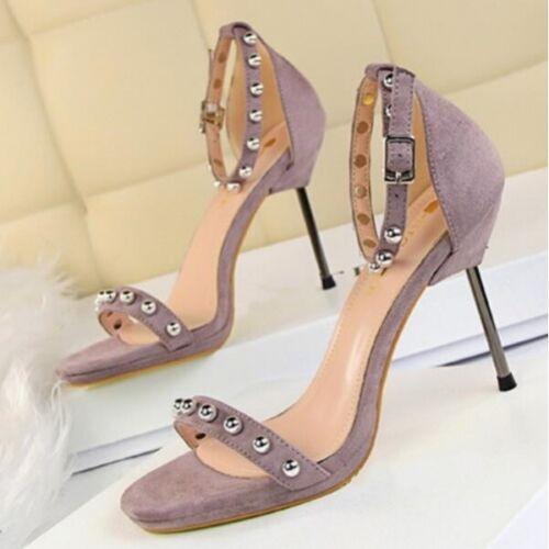 Sandali Stiletto Viola Pelle Donna Borchie Eleganti Alti Cm Simil Cw709 8 5 HwfqUxH4Z