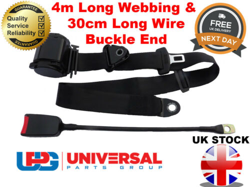 Universal 3 Point Inertia Seat Belt 4m 30cm Wire E4 Rated FREE NEXT DAY DELIVERY