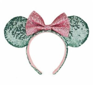 Disney Parks Minnie Mouse Ears Bow Multi Color Polka Dot Pink Headband Hat NEW