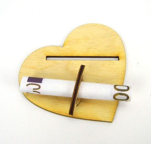 Kleeblatt Alles Liebe großes Geldgeschenk 16cm Glückwunsch Geschenk Holz DIY